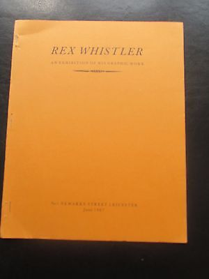 1967 Rex Whistler Exhibition Of His Graphic Work Catalogue Leicester