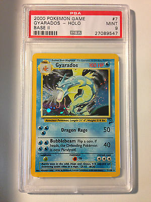 Pokemon Card Gyarados Holo Base Set 2 7/130 PSA Graded 9 MINT