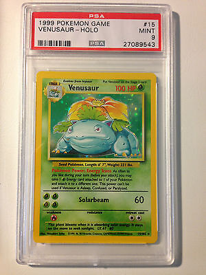 PSA 9 Pokemon Venusaur Holo 15/102 - MINT