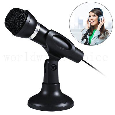Computer Microphone 3.5mm Mic MSN Skype Desktop Web Chat Gaming for Laptop PC