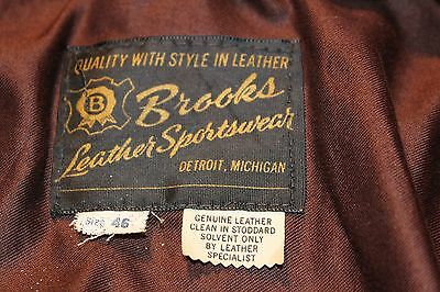 Brooks Leather Cycle Jacket - Size 46 (tight fit)-Vintage