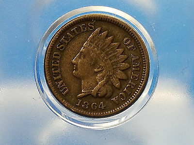 1864 Indian Head Penny  Copper Nickel  Full Liberty