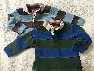 2 Mini Boden long sleeve Rugby Shirts Sz 18-24 m *great condition*