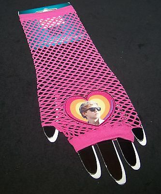 Cody Simpson Fingerless Mesh Gloves Claire's Hot Pink Heart