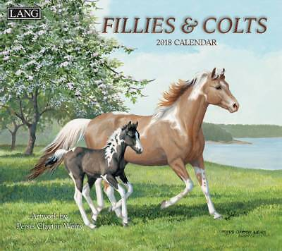 2018 Lang Calendar FILLIES AND COLTS New Wall Calender Fits Frame by Persis C...