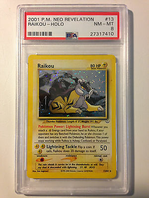 Raikou 13/64 PSA 8 NEAR MINT-MINT - Holo Rare Pokemon Neo Revelation