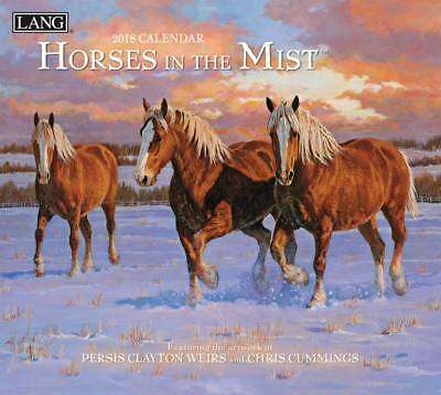 2018 Lang Calendar HORSES IN THE MIST New Wall Calender Fits Frame FREEPOST A...