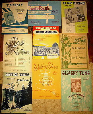 9 x c1930's  collectors sheet music .