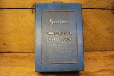 Vintage Sutton Drill Set S3B Case Empty Old Tool