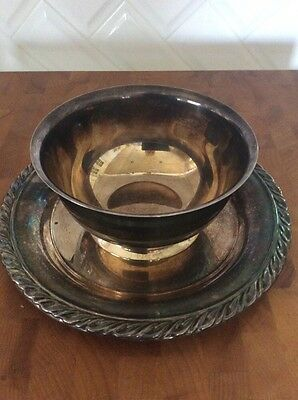 Condiment/Gravy Bowl - Wm A ROGERS - Silver Plated