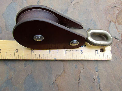 Vtg Marine Sailboat GIBB Brass Pulley Boat Assessory Tool for Rigging Lines Sail