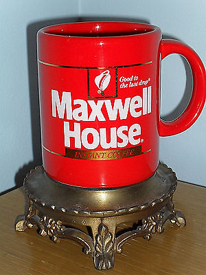 Red Maxwell House Instant Coffee Mug -- Good to the last drop! -- Red/Gold