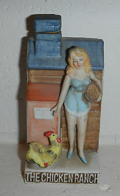 Vintage Dug's 1979 Miniature Decanter THE CHICKEN RANCH Brothel Pahrump Nevada