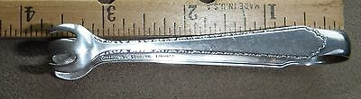 Lunt Treasure Sterling Silver William & Mary small tongs Monogram K