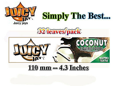 Rolling Papers -Coconut Juicy Jays  King Size- Reducd Shipping on Multiple Order