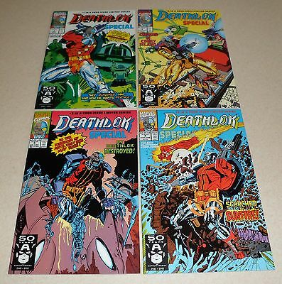 Deathlok Special #1 #2 #3 #4 - complete mini series - Marvel Comics  - 1991