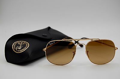 Ray-Ban Sunglasses RB3561 001/M2 - GENERAL Gold / Polarized Brown Gradient -57mm