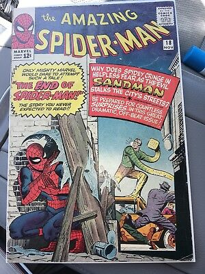 Amazing Spider-Man #18 MARVEL 1964 - 1st App of Ned Leeds - 3rd App of Sandman!