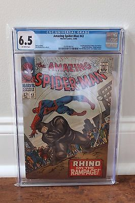 Amazing Spider-Man 43 - 1st MJ Watson - CGC 6.5 (FN+) - OW Pages - FREE SHIPPING