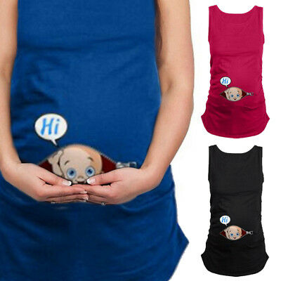 New Women's Handy Summer Plus Size Pregnant Clothes Tank Top Maternity Vest Suit