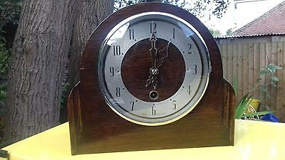 Vintage enfield mantle clock.clearance not barnfind