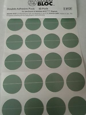 Magna Bloc Double-Adhesive Pads Qty 60 New