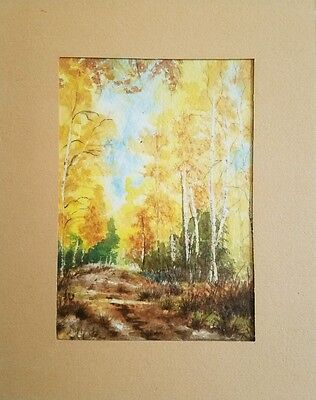 Vintage original watercolor Signed by THE ARTIST