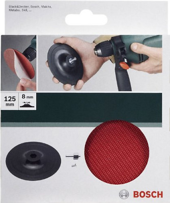 Bosch 2609256280 125 mm Sanding Plate for Drill with Velcro-Type Fastening Syste