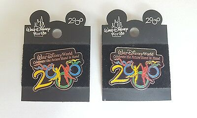 Walt Disney World 2000 Collectible Pin Lot of Two (2) Authentic Pins