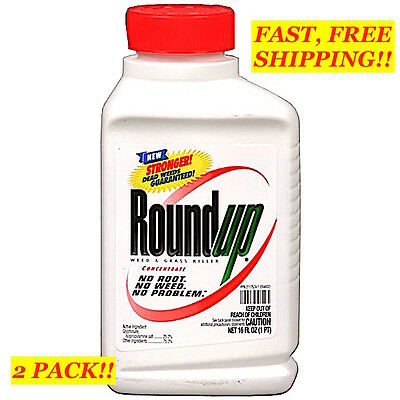 2 PACK! ROUNDUP WEED & GRASS KILLER Concentrate Plus ~ LB5778 ~ 16 fl oz EACH!!