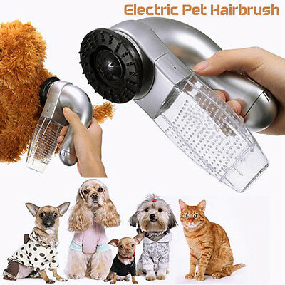 Pet Cat Dog Hair Remover Shedding Massage Grooming Brush Comb Vacuum Cleaner