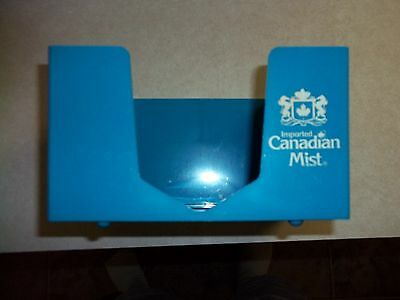 Vintage CANADIAN MIST WHISKEY  BAR CADDY NAPKIN HOLDER Made in USA Tavern Beer