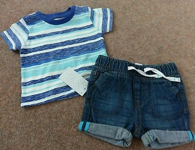 baby boys top and shorts set 3-6 months