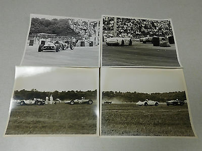 Lot of 4 vintage SCCA type sports car racing black white photographs 1960's #2