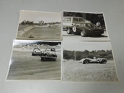 Lot of 4 vintage SCCA type sports car racing black white photographs 1960's #3