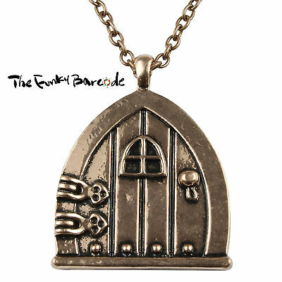 Tfb - Fairy Door Copper Pendant Necklace Gift Quirky Funky Novelty Dream Fantasy