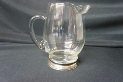 """Wallace Sterling Silver & Crystal Glass Cocktail Water Pitcher 24 oz 6.25"""""""