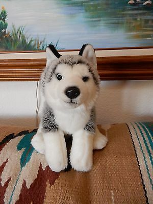 SOFT & REALISTIC SIBERIAN HUSKY BLUE EYED PUPPY DOG TOY R US plush stuffed dog