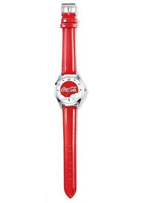 NEW Classic Coca-Cola Coke Christmas Iconic Polar Bear Stainless Steel Red Watch