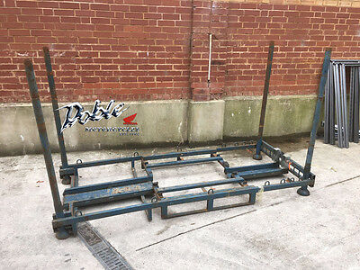 Large Motorcycle Heavy Duty Metal Packing Crate International Shipping Stillage