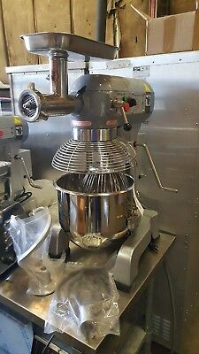Adcraft Planetary 20 QT Mixer with 3 attachments and Meat Grinder Attachment