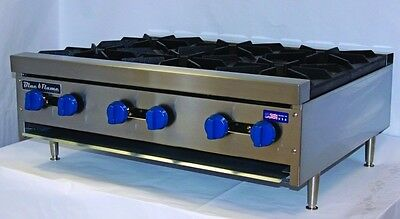 New Blue Flame Natural Gas Countertop Hot Plate BFHP Grill 2, 4, 6 burner