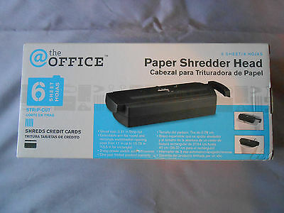 @ the Office 6 sheet strip-cut paper shredder head, credit cards, extendable arm