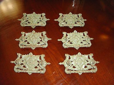 Set of 6 Antique Victorian DRAWER  PULLS
