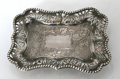 Chinese Export Small Silver Tray by Hung Chong Canton