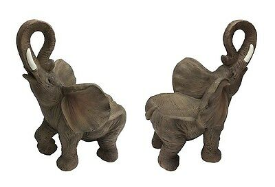 Madagascar Elephant Seat Chair Bench Animal Garden Poly Resin Furniture Setting
