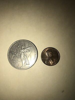 RARE Large Soviet WWII Commemorative 1 Ruble Coin