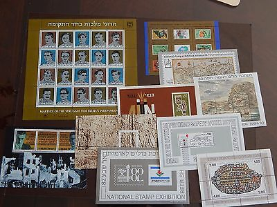 ISRAEL Stamps Lot of 10 Souvenir Sheets Mint Condition