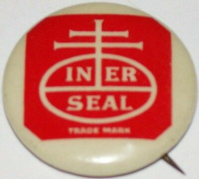Vintage pinback pin INER SEAL Nabisco National Biscuit Company logo n-mint cond