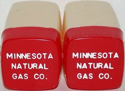 Vintage salt and pepper shakers MINNESOTA NATURAL GAS CO excellent++ condition